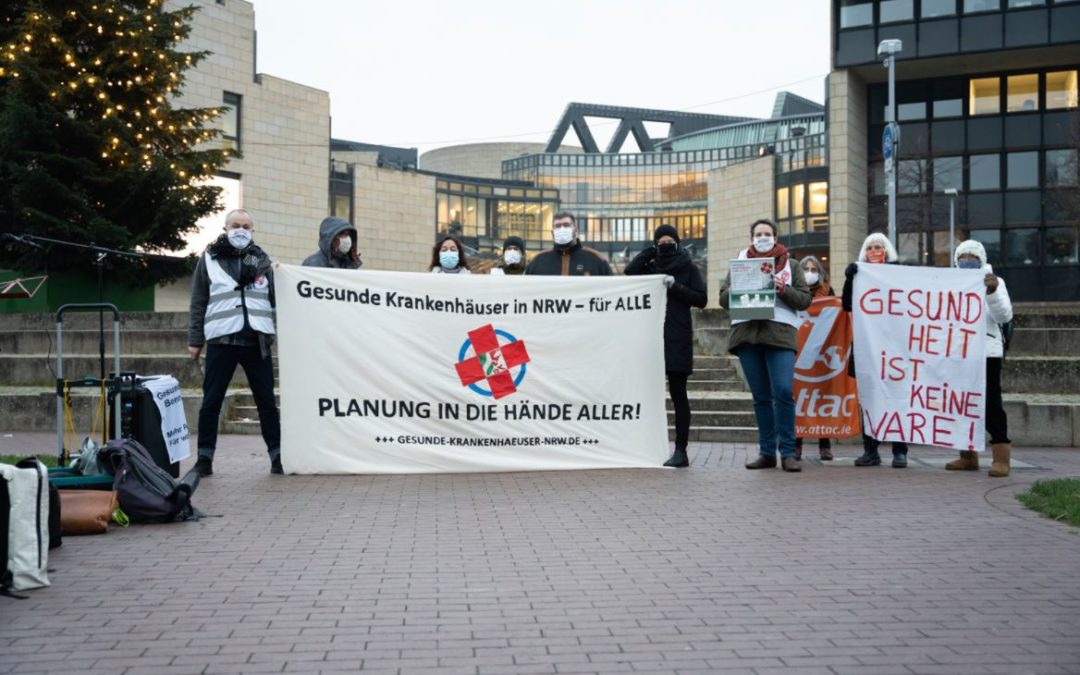 Erfolgreiche Aktion vor dem Landtag