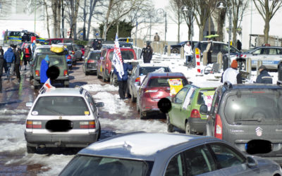 Protestkorso im Essener Norden